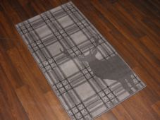 Modern Approx 4x2 60cm x 110cm Novelty range new checked stag dark grey rugs